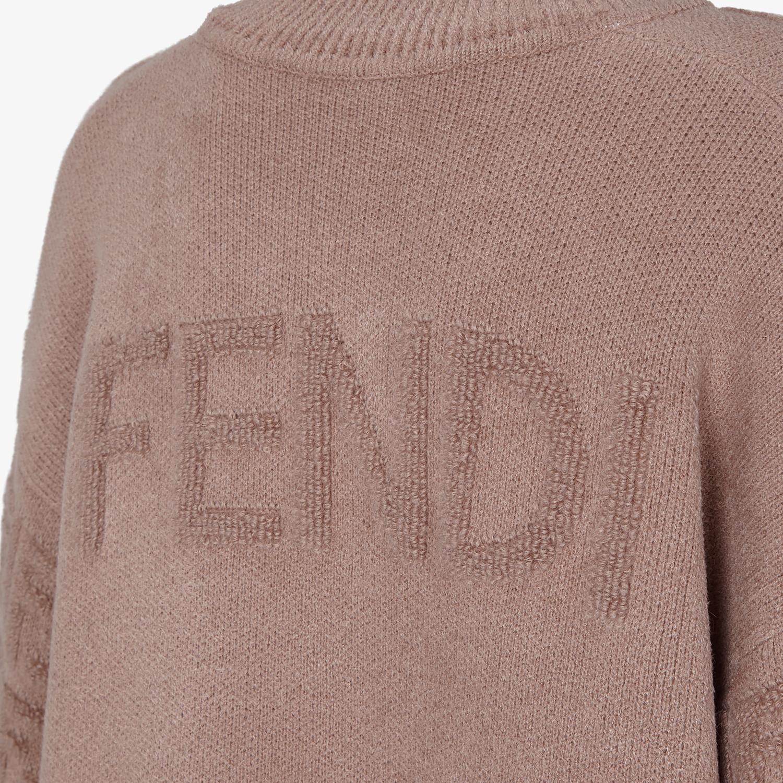 FENDI PULLOVER - Maglia in mohair beige - vista 3 dettaglio