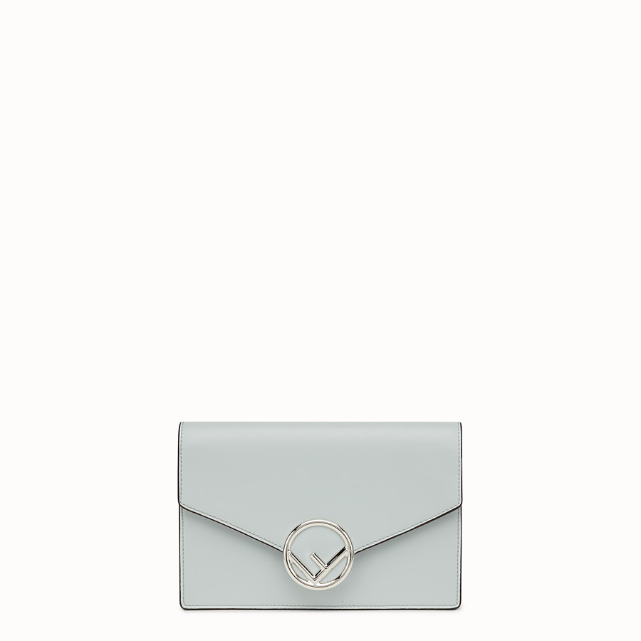 FENDI WALLET ON CHAIN - Gray leather mini-bag - view 1 detail