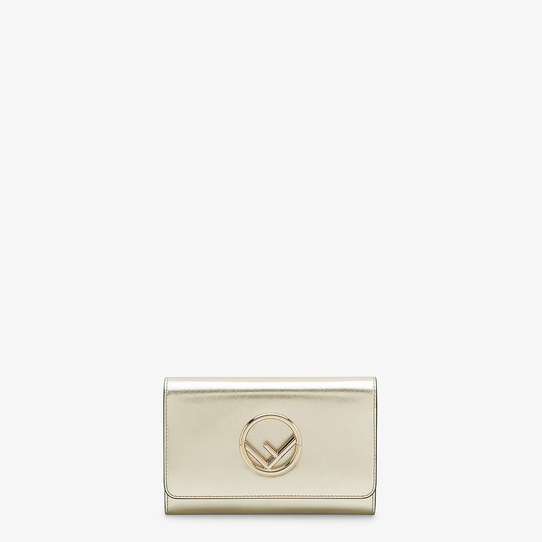 FENDI WALLET ON CHAIN - Metallic leather mini-bag - view 1 detail
