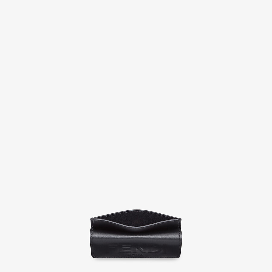 FENDI CARD HOLDER - Black leather cardholder - view 4 detail