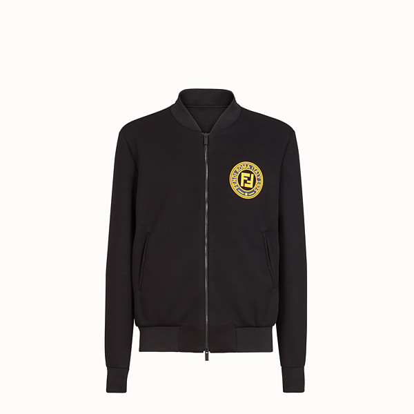 FENDI BOMBER - Black neoprene jacket - view 1 small thumbnail