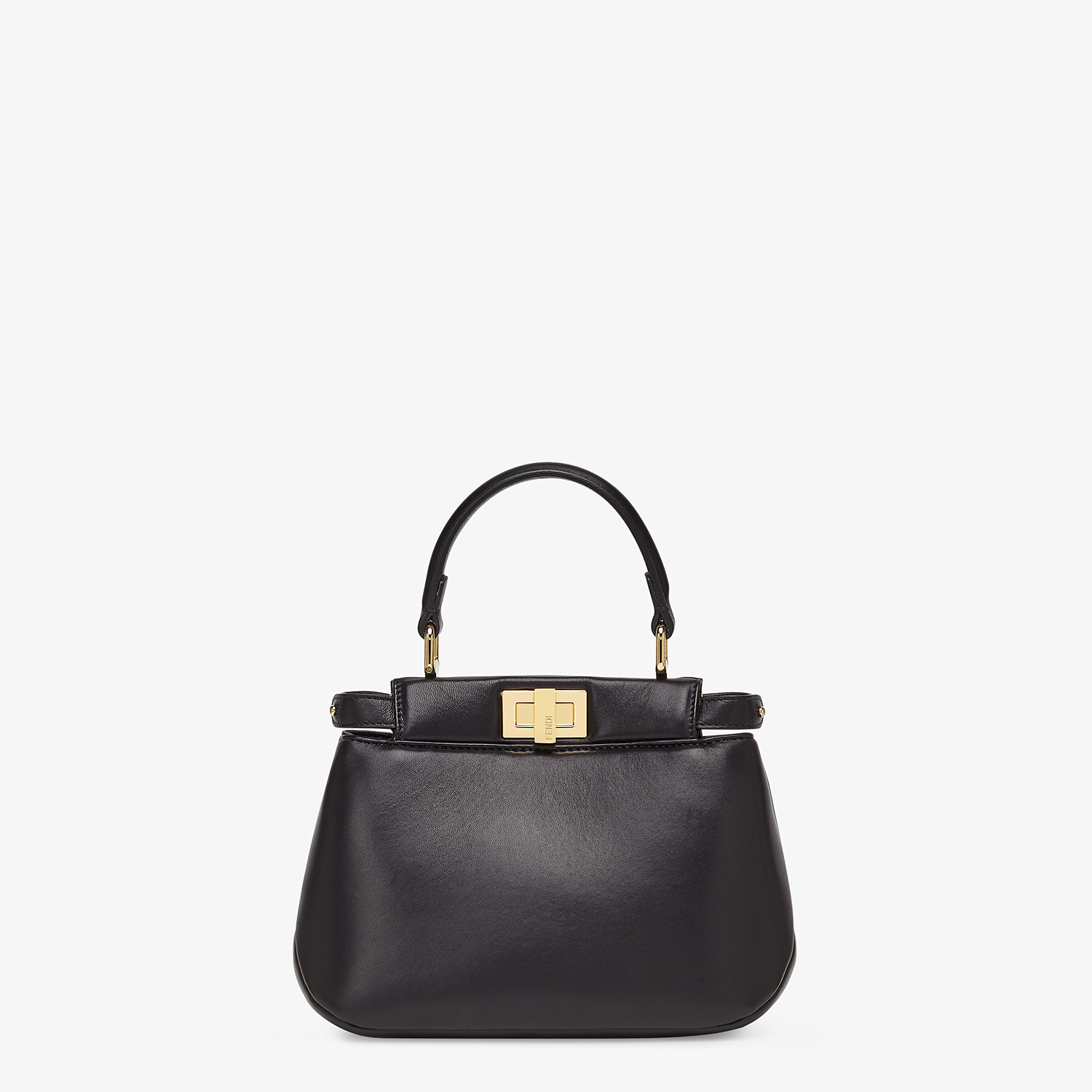 FENDI PEEKABOO ICONIC XS - Black nappa leather bag - view 1 detail