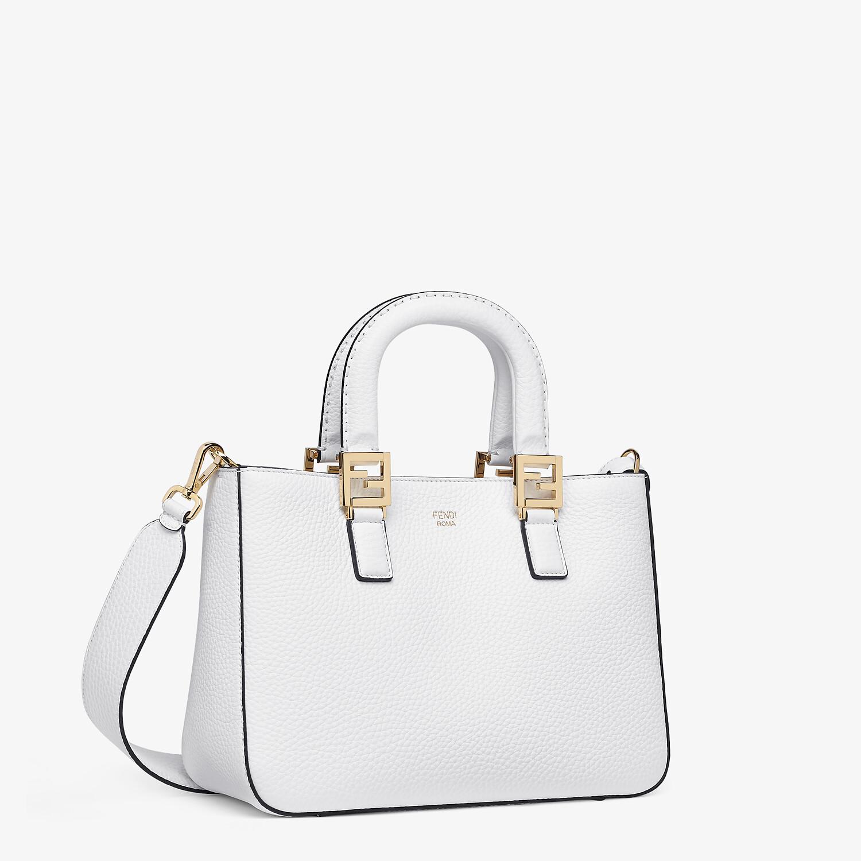 FENDI FF TOTE SMALL - Cuoio Romano leather bag - view 2 detail