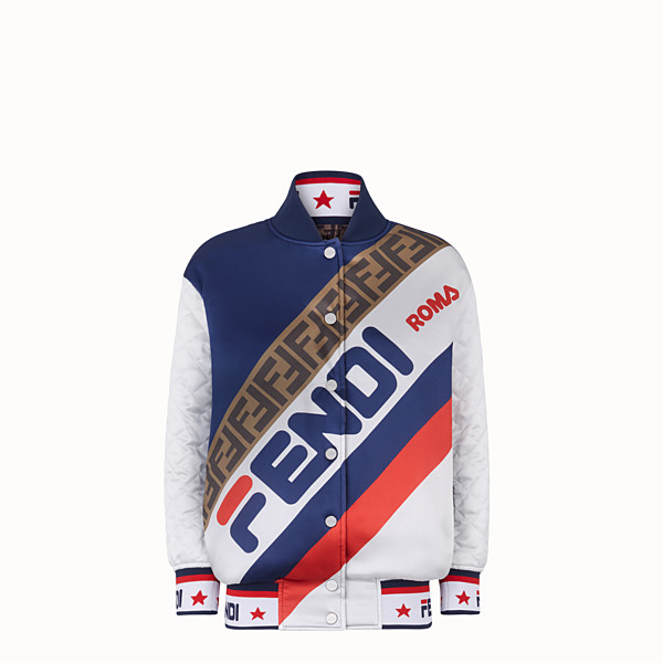 FENDI JACKET - White satin bomber jacket - view 1 small thumbnail