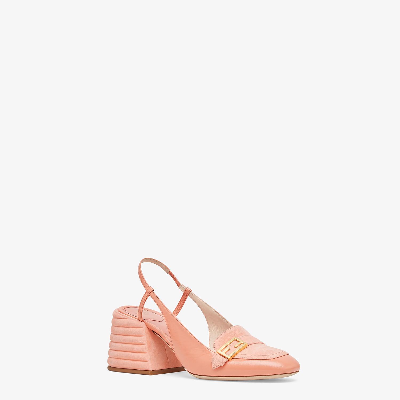 FENDI SLINGBACK - Promenade in pelle rosa - vista 2 dettaglio