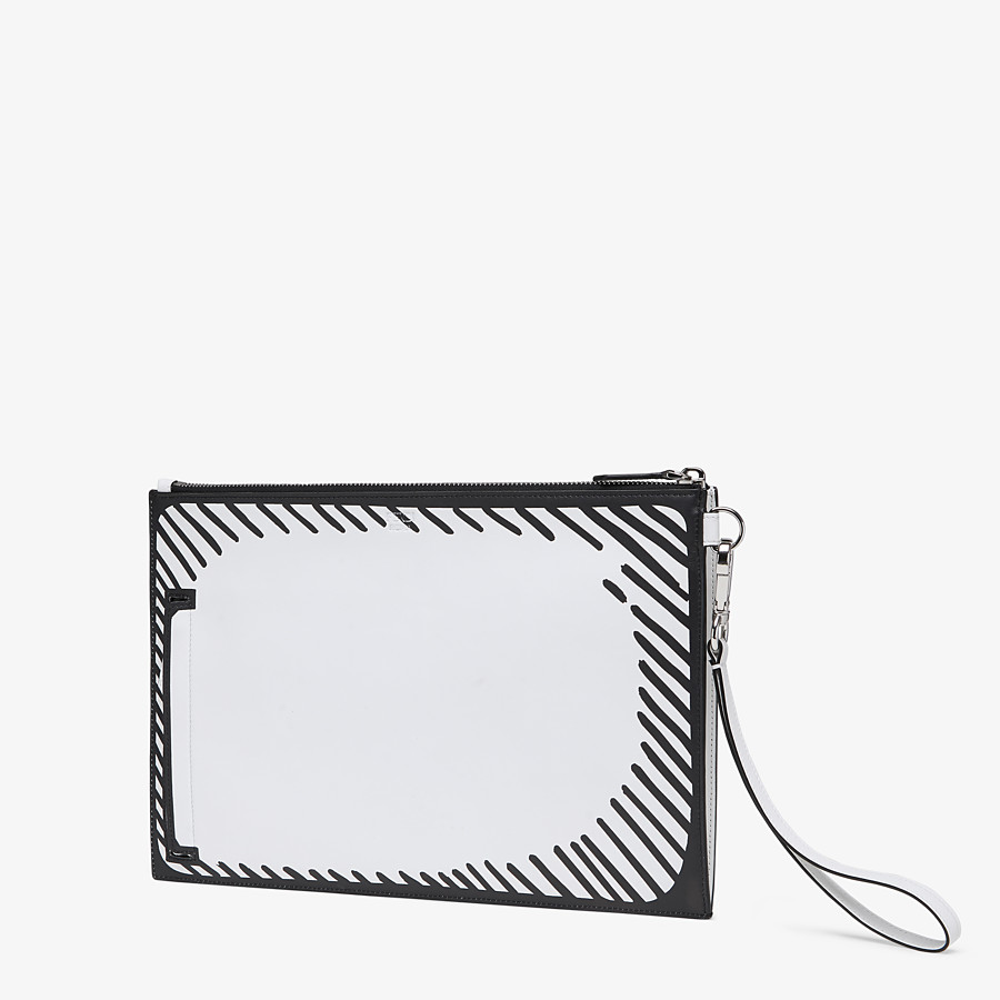 FENDI FLAT POUCH - Fendi Roma Joshua Vides leather bag - view 2 detail