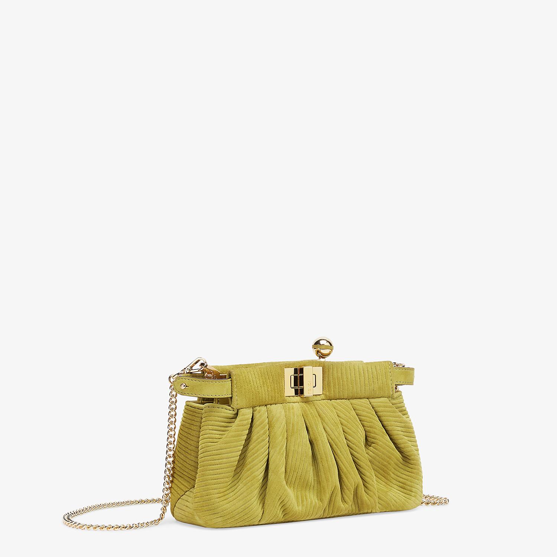 FENDI PEEKABOO CLICK - Small green suede bag. - view 3 detail