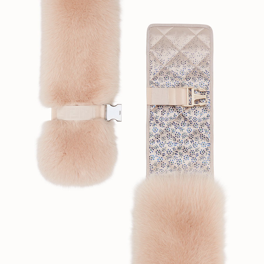 FENDI COLLAR - Pink fox fur collar - view 2 detail