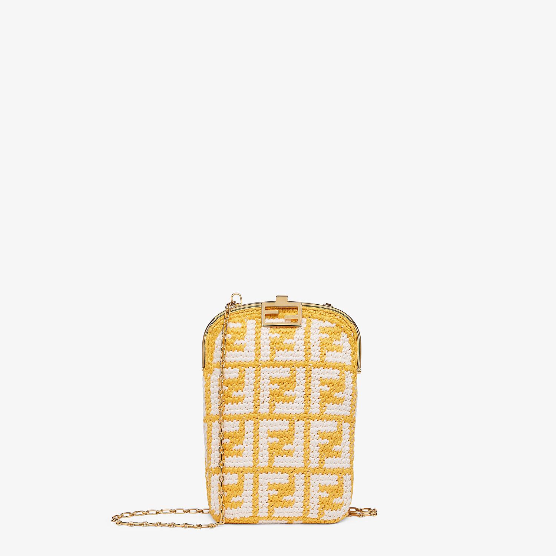 FENDI BAGUETTE PHONE BAG - FF crochet fabric mini-bag - view 1 detail