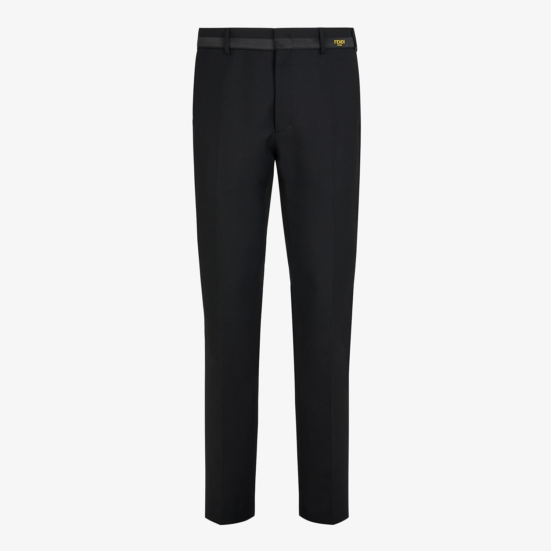 FENDI PANTS - Black wool pants - view 1 detail