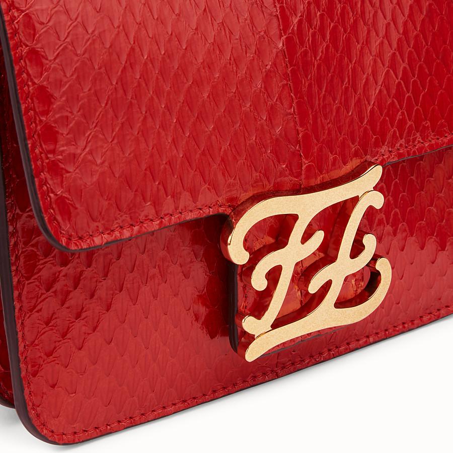 FENDI KARLIGRAPHY - Tasche aus Elapheleder in Rot - view 6 detail