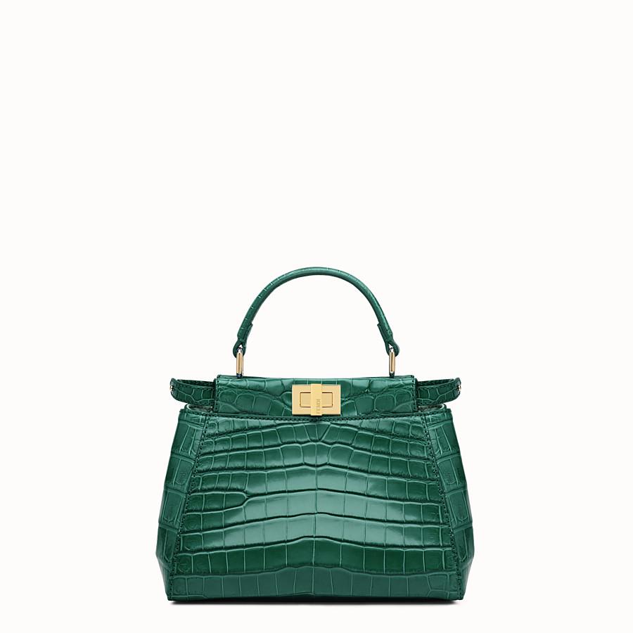 5e3436a587ad Green crocodile leather handbag. - PEEKABOO MINI