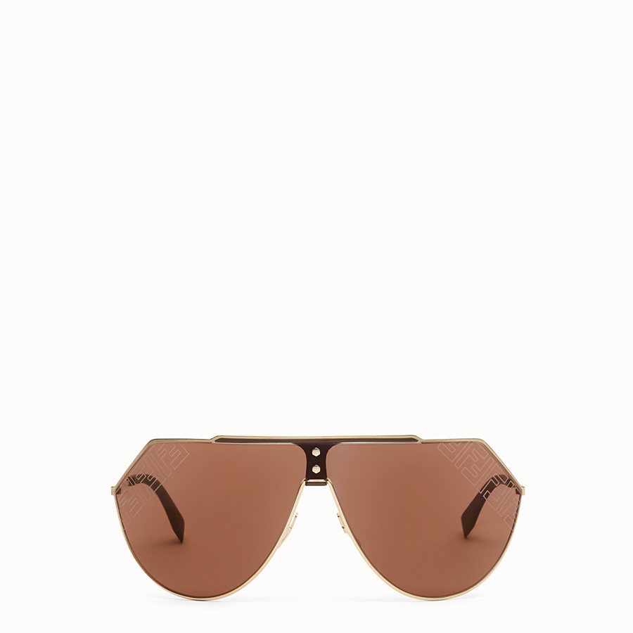 FENDI EYELINE 2.0 - Brown and gold sunglasses - view 1 detail