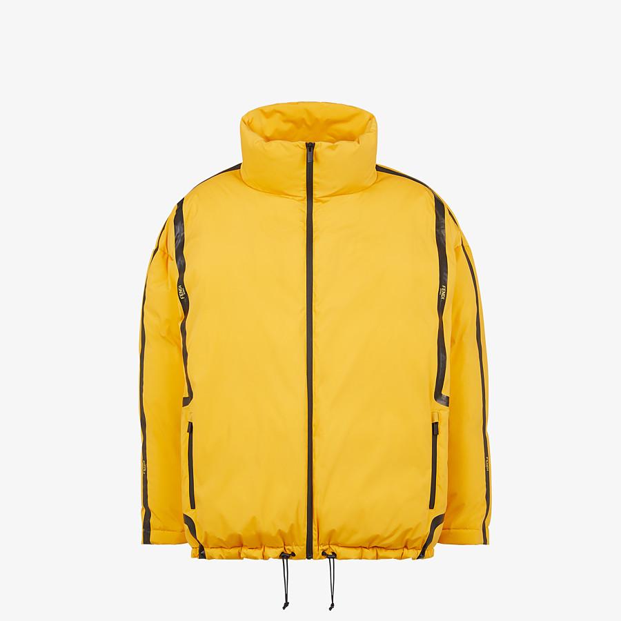 FENDI DOWN JACKET - Yellow tech fabric jacket - view 1 detail