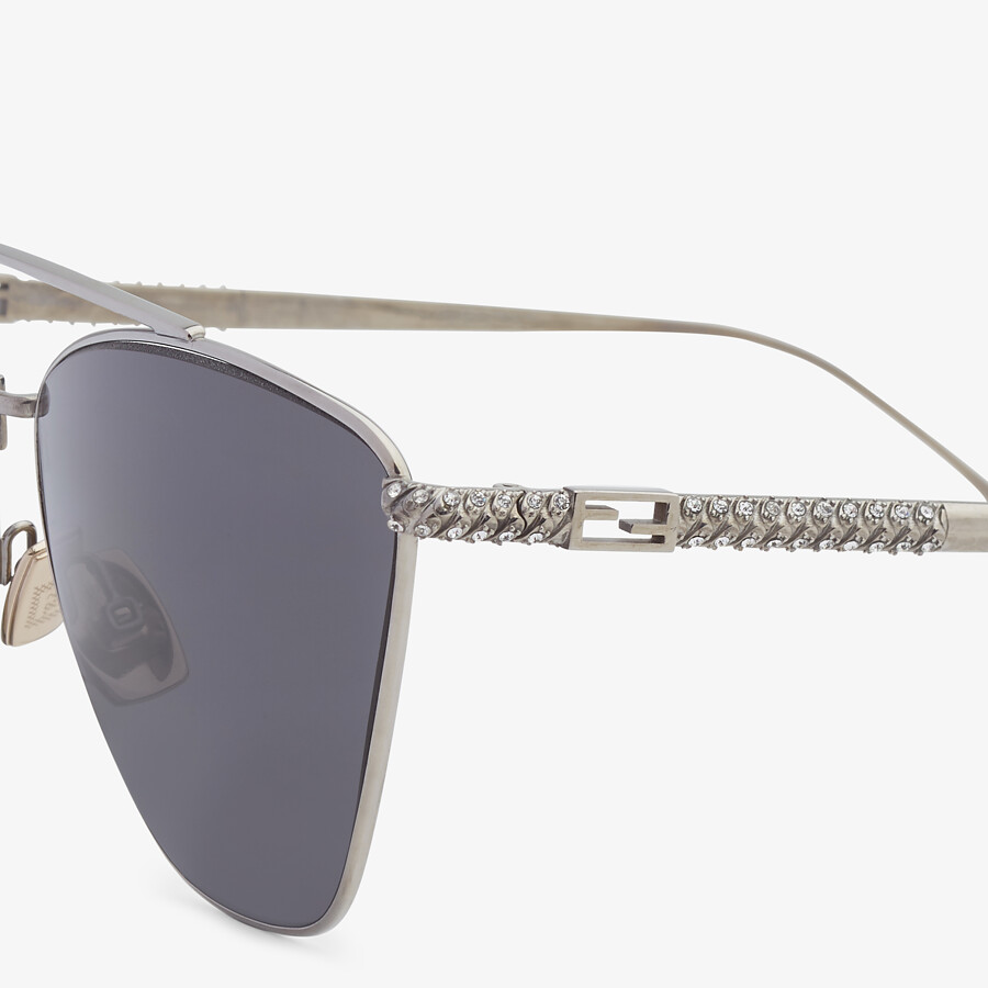 FENDI BAGUETTE - Ruthenium-colored sunglasses - view 3 detail