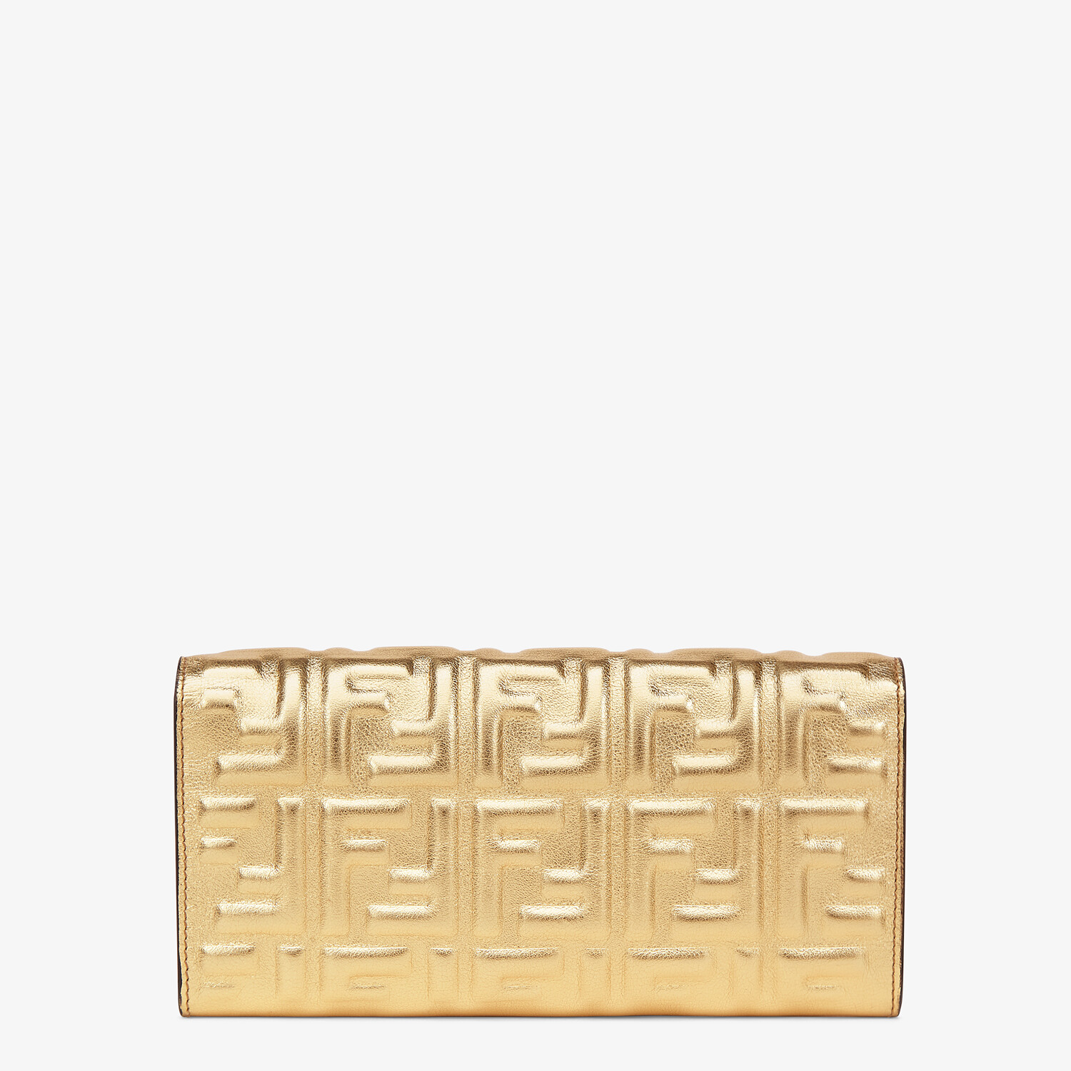 FENDI CONTINENTAL WITH CHAIN - Golden leather wallet - view 3 detail
