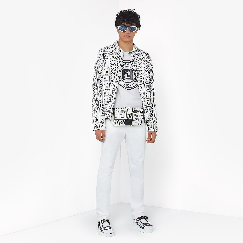FENDI T-SHIRT - Fendi Roma Joshua Vides cotton T-shirt - view 4 detail