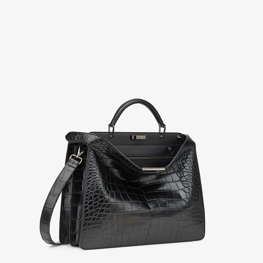 FENDI PEEKABOO ISEEU MEDIUM - Black alligator bag - view 3 detail