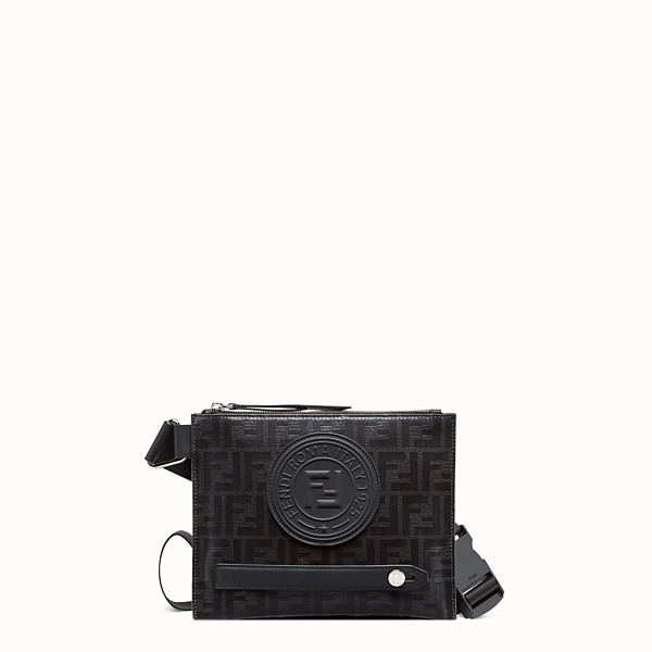 FENDI MESSENGER - Black fabric pochette - view 1 small thumbnail