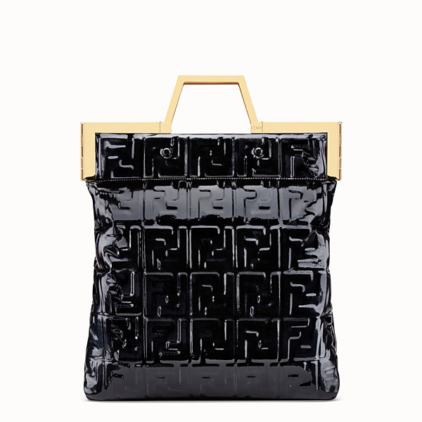 FENDI BORSA SHOPPING FLAT MEDIA - Shopper in vinile nero - vista 1 thumbnail piccola