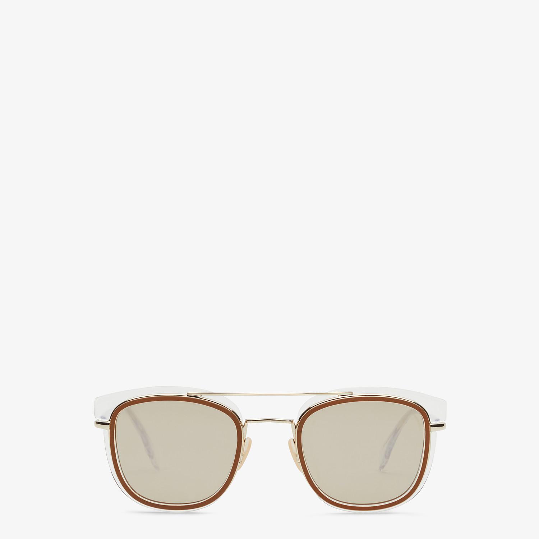 FENDI FENDI GLASS - Transparent and gold sunglasses - view 1 detail