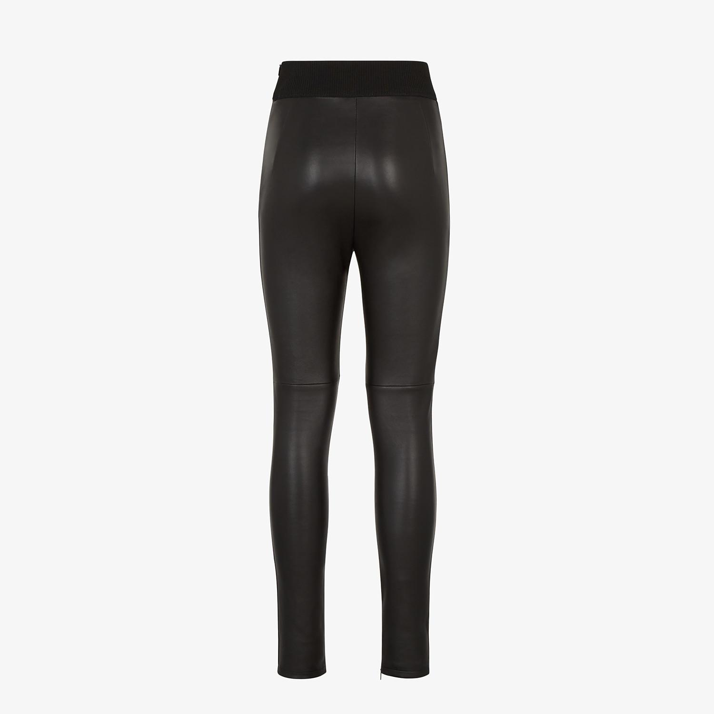 FENDI PANTS - Black leather pants - view 2 detail