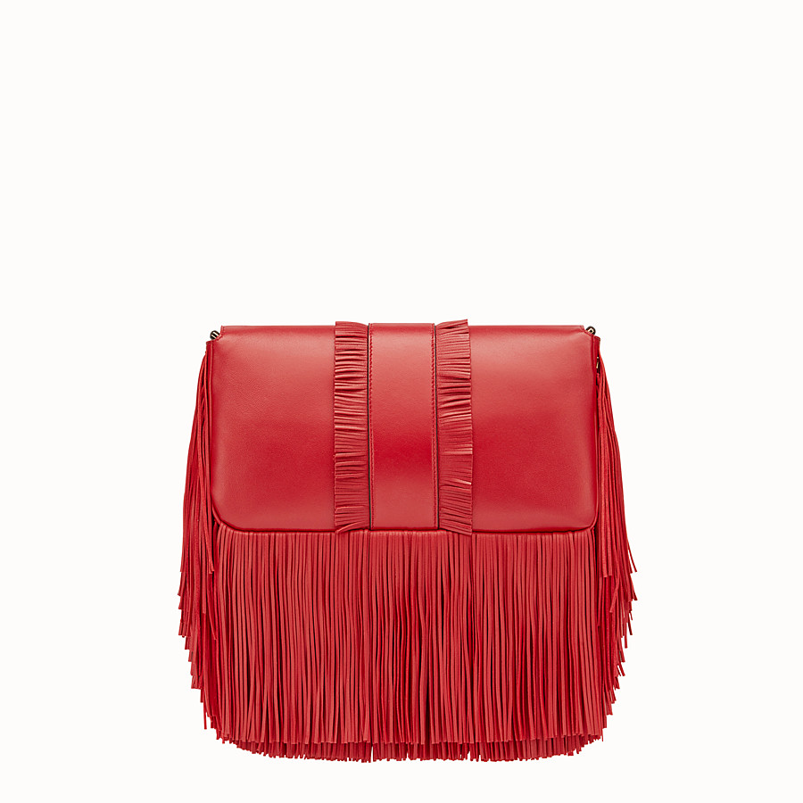 FENDI BAGUETTE - Red nappa bag - view 3 detail