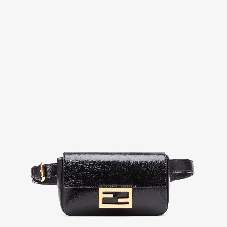 FENDI BELT BAG - Minibag in pelle nera - vista 1 dettaglio