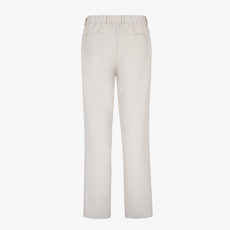 FENDI TROUSERS - White wool trousers - view 2 detail
