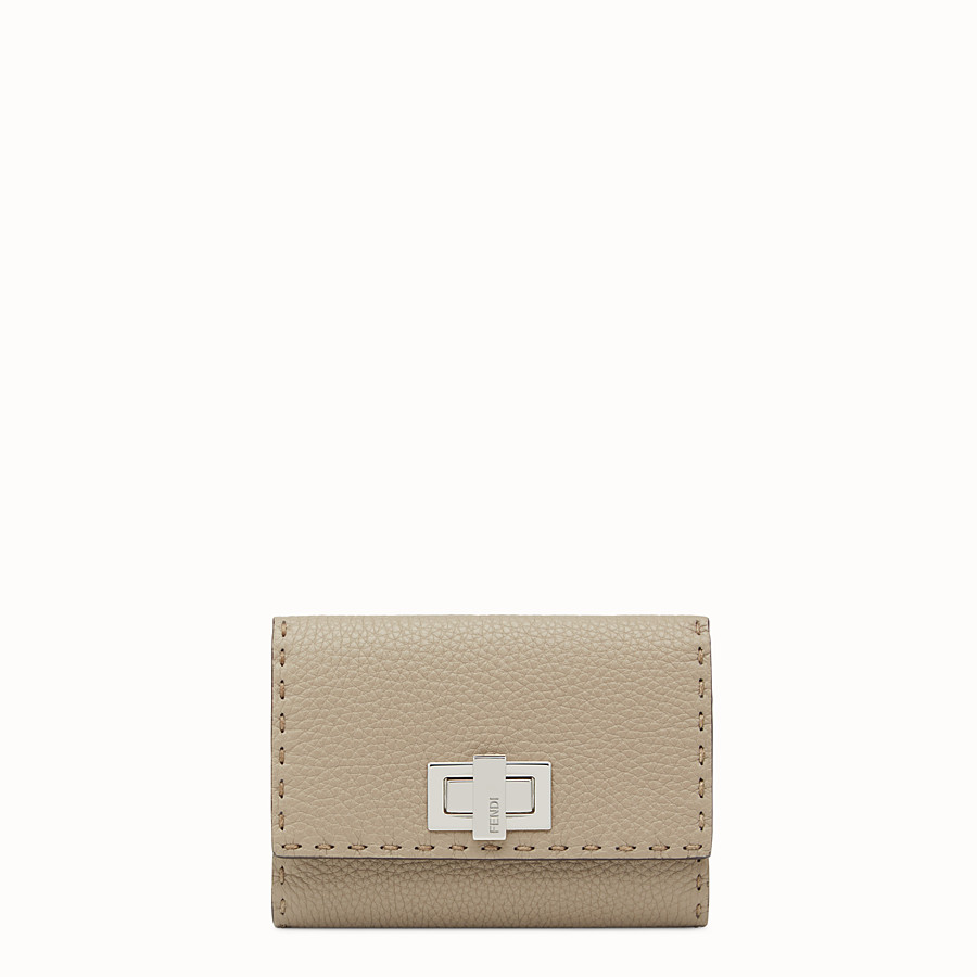 FENDI CONTINENTAL MEDIUM - Beige leather wallet - view 1 detail