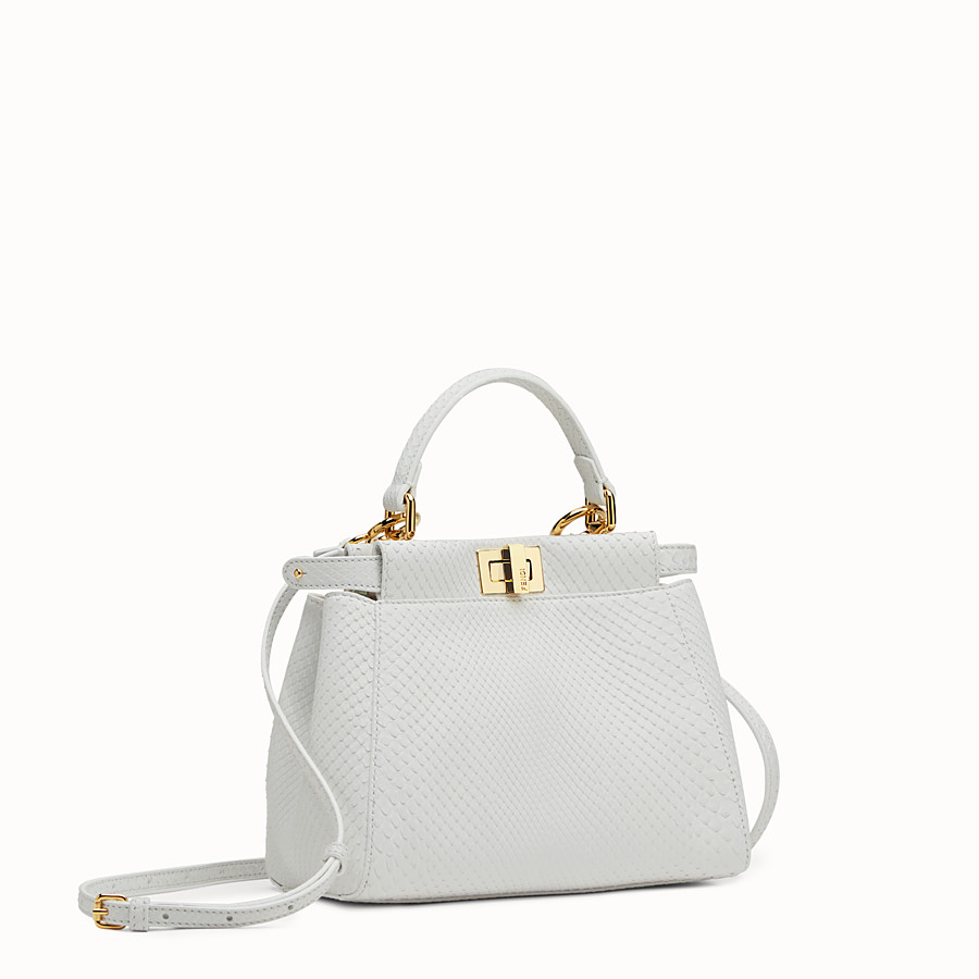 FENDI PEEKABOO MINI - White python handbag - view 2 detail