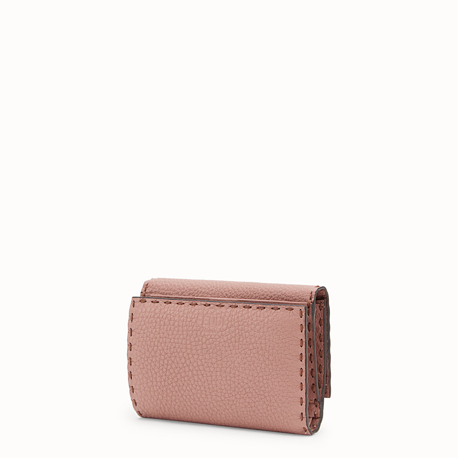 FENDI CONTINENTAL MEDIUM - Pink leather wallet - view 2 detail