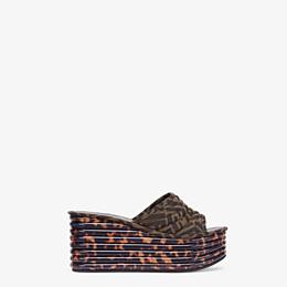 FENDI PLATFORMS - Brown fabric Promenades - view 1 thumbnail
