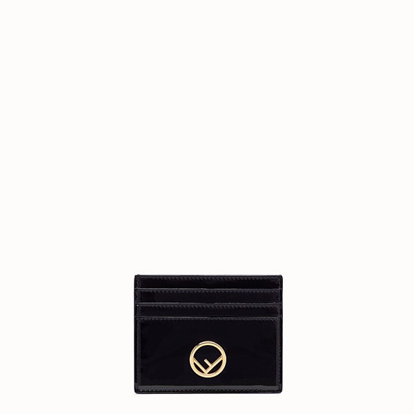 FENDI CARD HOLDER - Flat card holder in black patent leather - view 1 small thumbnail