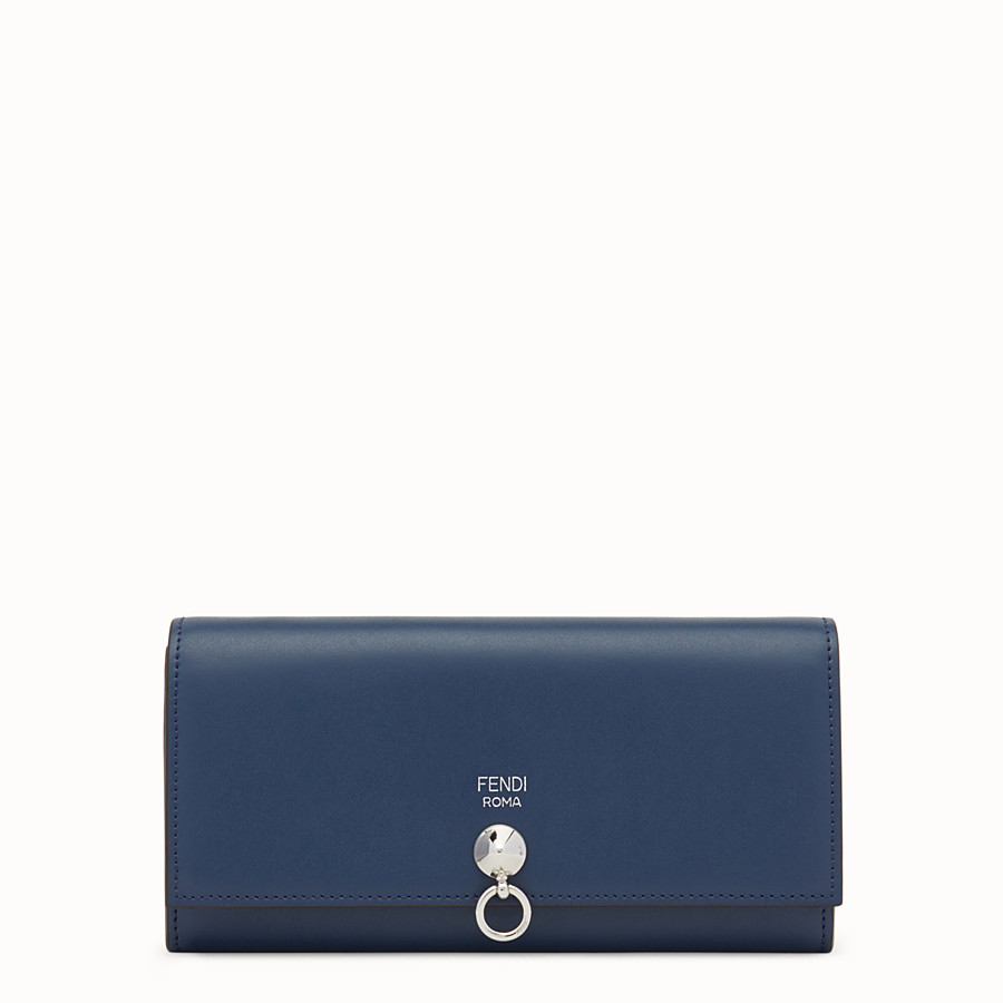 FENDI CONTINENTAL - Midnight-blue leather continental wallet - view 1 detail