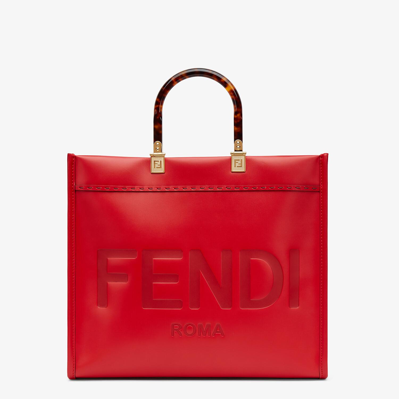FENDI FENDI SUNSHINE MEDIUM - Red leather bag - view 1 detail