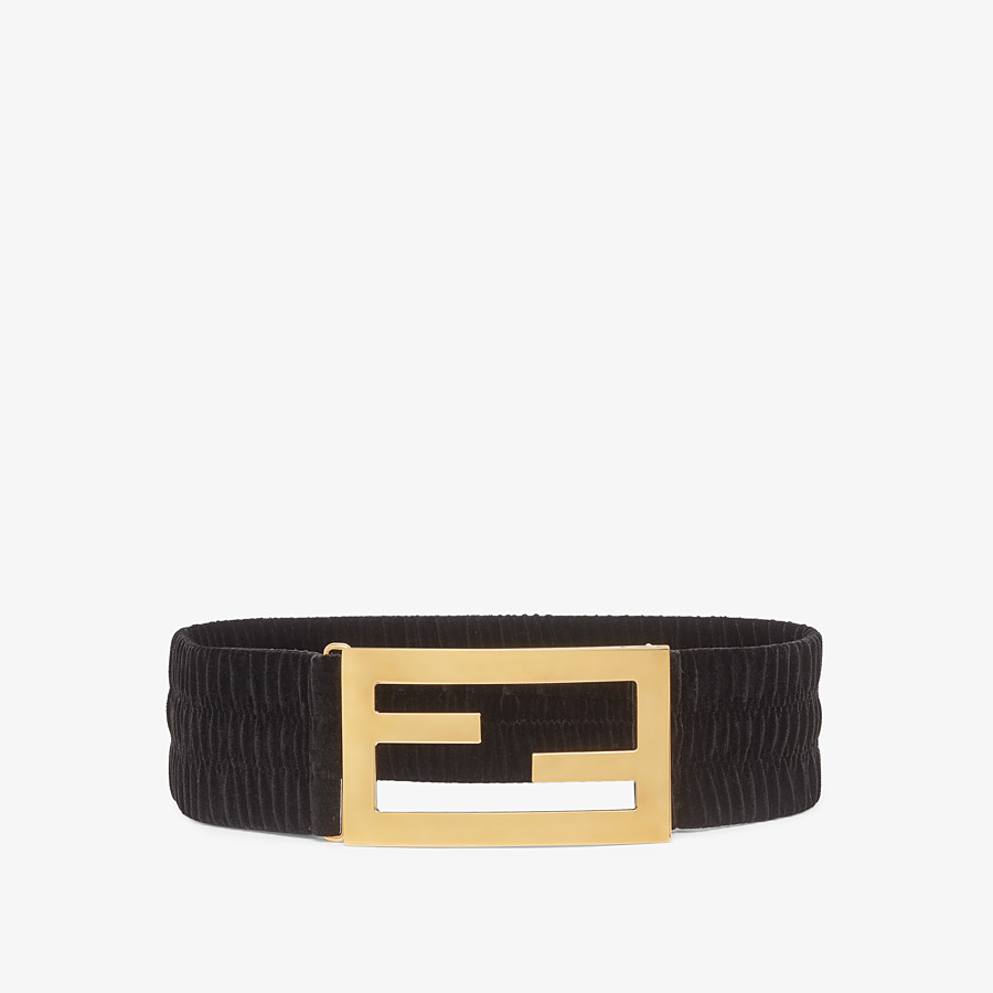 FENDI BELT - Black velvet belt - view 1 detail