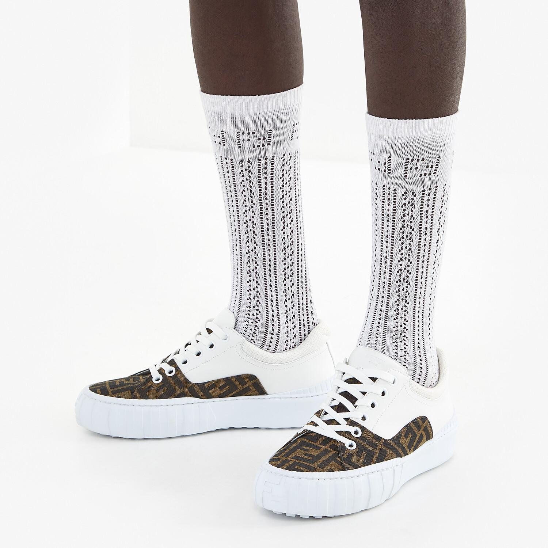 FENDI SOCKS - White cotton socks - view 2 detail