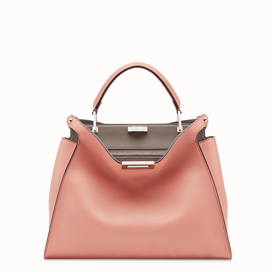 FENDI PEEKABOO ESSENTIAL - Tasche aus Leder in Rosa - view 1 detail