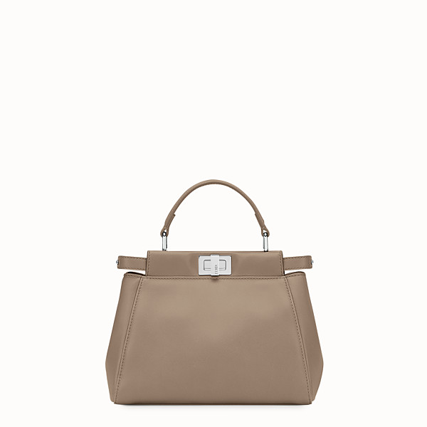 FENDI PEEKABOO ICONIC MINI - Sac à main en cuir nappa gris tourterelle - view 1 small thumbnail