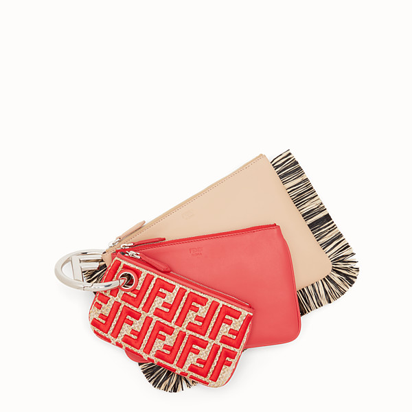FENDI TRIPLETTE - Multicolour leather clutch - view 1 small thumbnail
