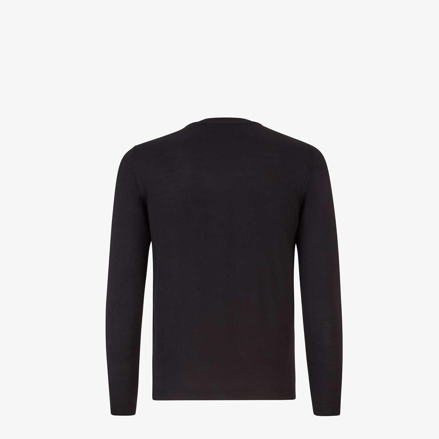 FENDI SWEATER - Bag Bugs pullover in black wool and fur - view 2 detail