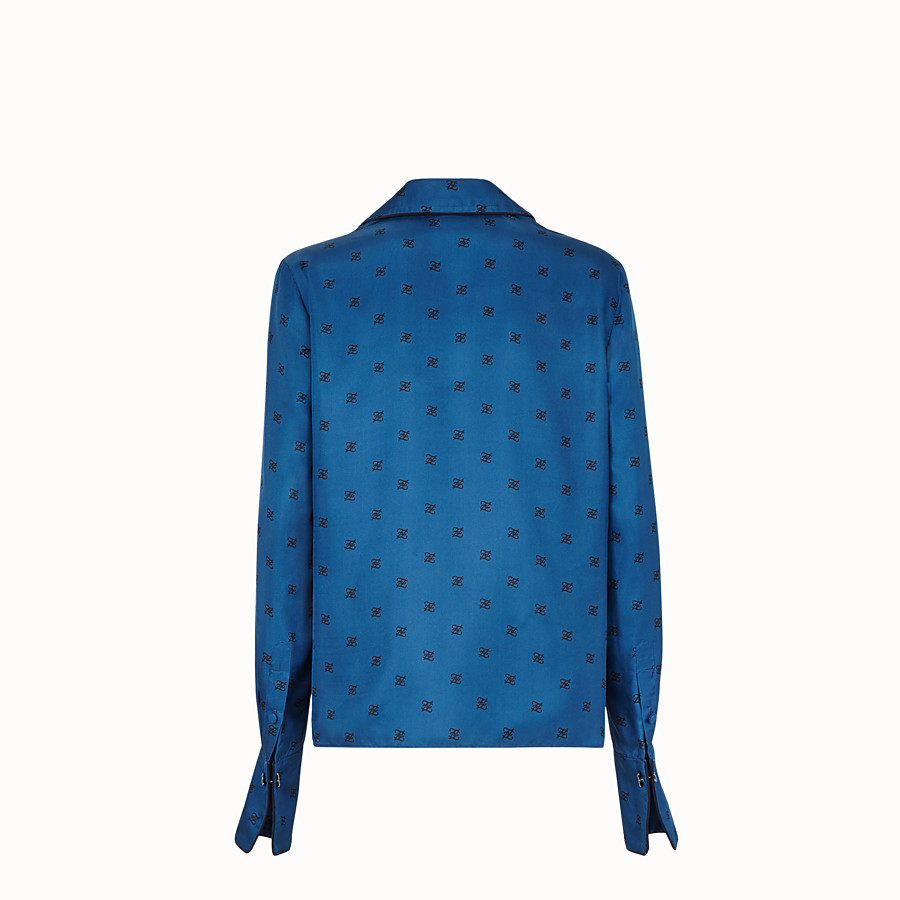 FENDI SHIRT - Blue silk blouse - view 2 detail