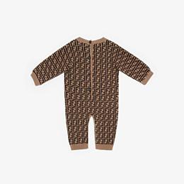 FENDI COMBINAISON - Tobacco cotton and cashmere playsuit - view 2 thumbnail