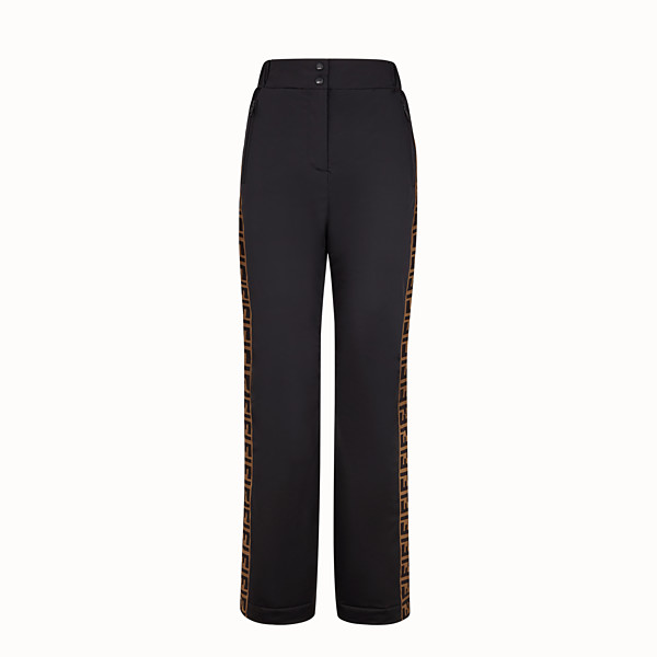 FENDI TROUSERS - Black tech fabric trousers - view 1 small thumbnail