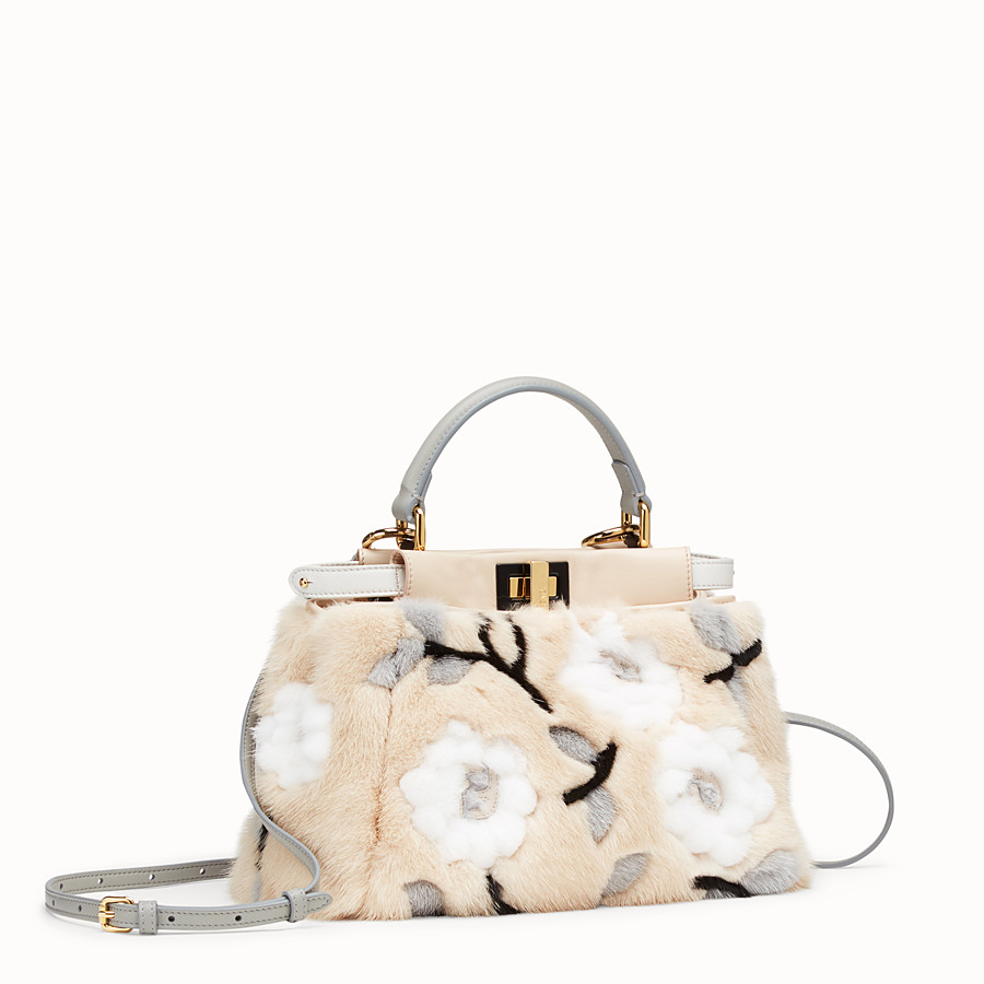 FENDI PEEKABOO ICONIC MINI - Multicolour mink bag - view 3 detail
