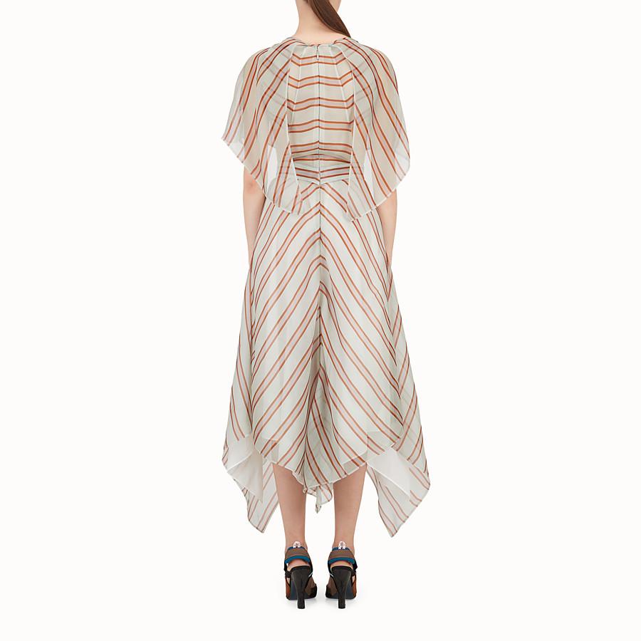 FENDI DRESS - Multicolour silk and jacquard dress - view 2 detail