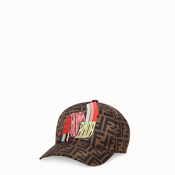 FENDI HAT - Fendi Roma Amor silk baseball cap - view 1 small thumbnail