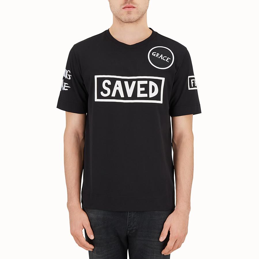 FENDI 티셔츠 - 블랙 컬러의 코튼 티셔츠 - view 1 detail