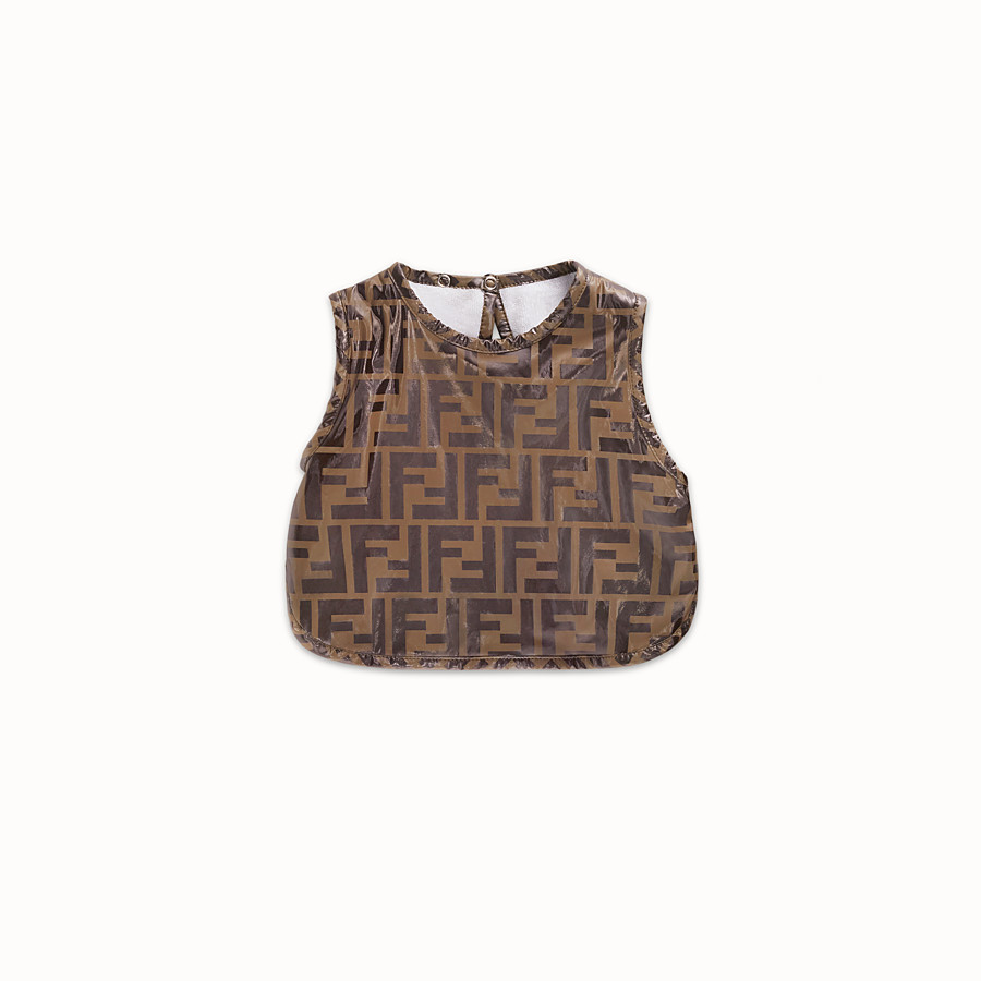 FENDI BIB - Tobacco plastic lined nylon bib - view 1 detail